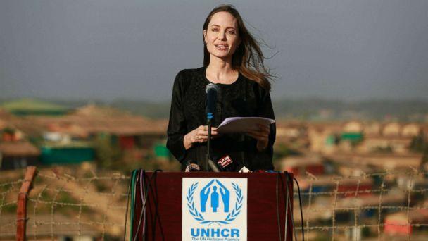 Angelina Jolie visits Rohingya refugees in Bangladesh