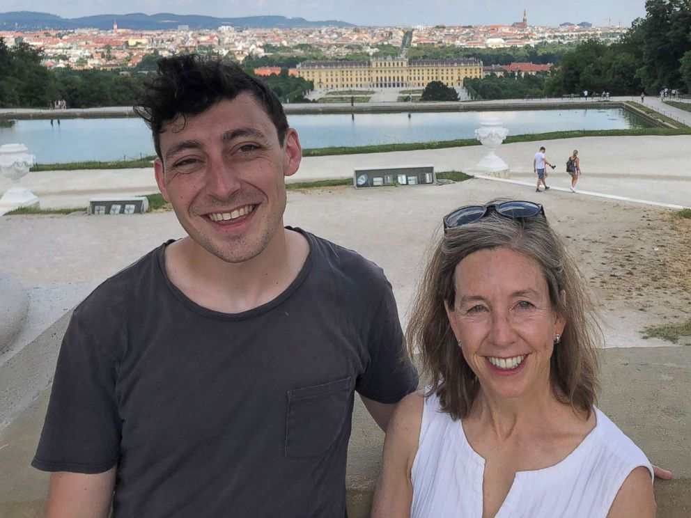 PHOTO: Jonathan Reid Luskin, 25, is pictured in Vienna with his mother Susan Stone, in this June 2018 photo.