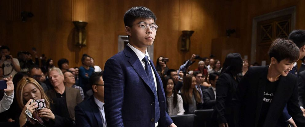 PHOTO: Joshua Wong arrives to testify before the Congressional-Executive Commission on China about the pro-democracy movement in Hong Kong, on September 17, 2019 in Washington, D.C.