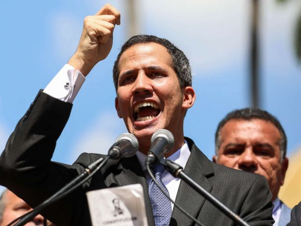 Trump recognizes Venezuela's opposition leader as head of government