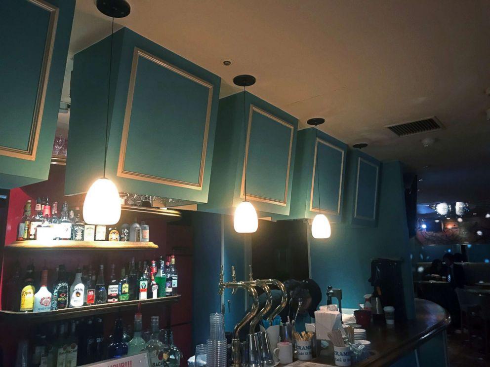 PHOTO: Pendant lamps hang over the counter at Scramble Cafe & Bar in Tokyo, Jan. 31, 2019.