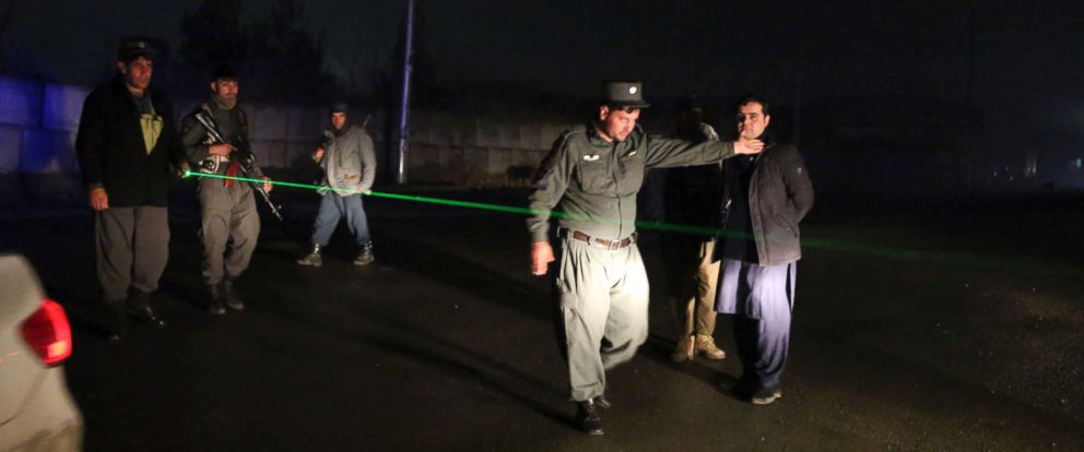 PHOTO: Security forces block the roads at the site of a suicide bomber attack in Kabul, Afghanistan, Wednesday, Nov. 28, 2018.