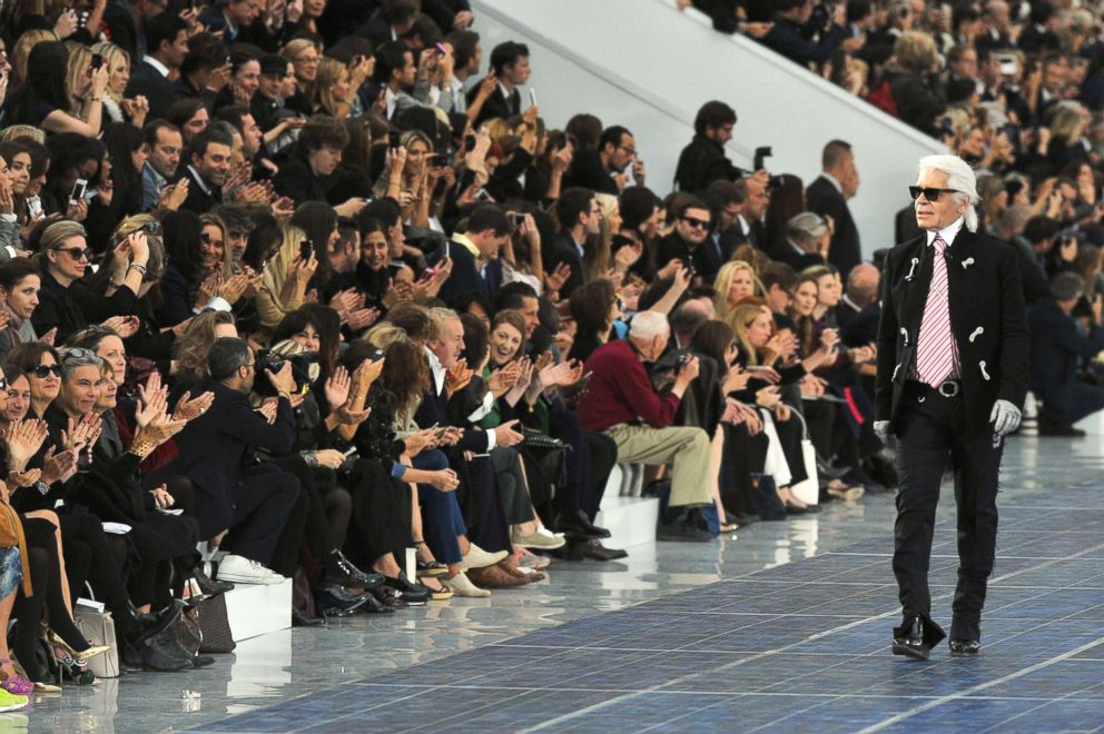PHOTO: Karl Lagerfeld walks the runway during the Chanel Spring/Summer 2013 show as part of Paris Fashion Week at in Paris, Oct. 2, 2012.