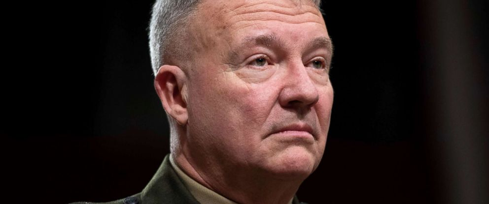 PHOTO: Marine Corps Lt. Gen. Kenneth F. McKenzie Jr., nominee to be general and commander of the US Central Command, testifies during a Senate Armed Service Committee confirmation hearing on Capitol Hill, Dec. 4, 2018.