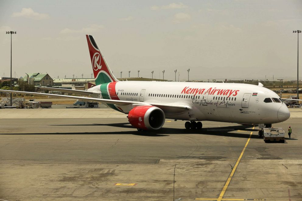 PHOTO: A Kenya Airways (KQ) Boeing Dreamliner plane prepares to take off from Jomo Kenyatta International Airport (JKIA) in Nairobi, Kenya to South Africa, in this Jan. 22, 2017 file photo.