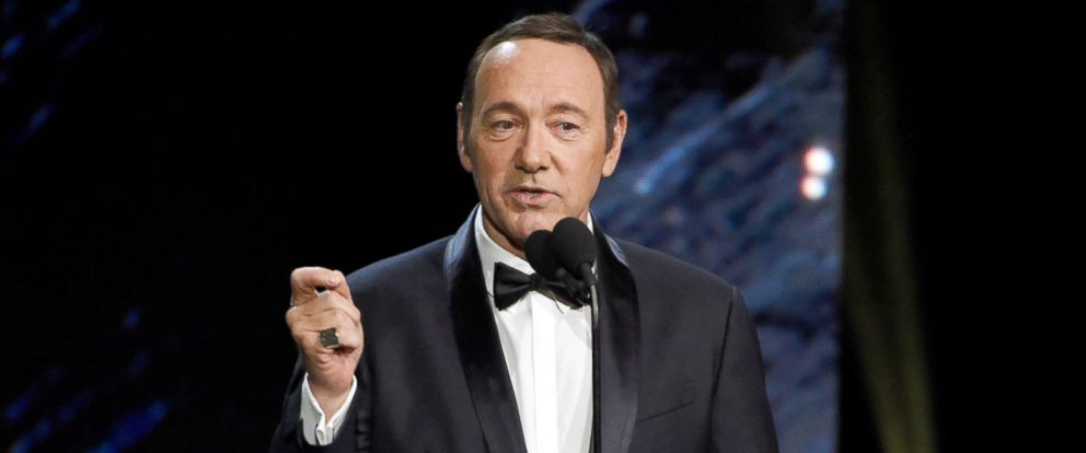 PHOTO: In this Oct. 27, 2017, file photo, Kevin Spacey presents an award in Beverly Hills, Calif.