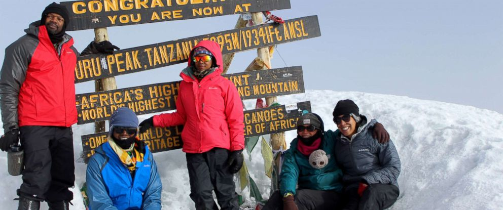 PHOTO: The five members that made it to top of Mount Kilimanjaro, Africas highest mountain in Tanzania. From left to right: Olatunde Gholahan, Leandra Taylor, Chaya Harris, Rosemary Saal and Alora Jones.