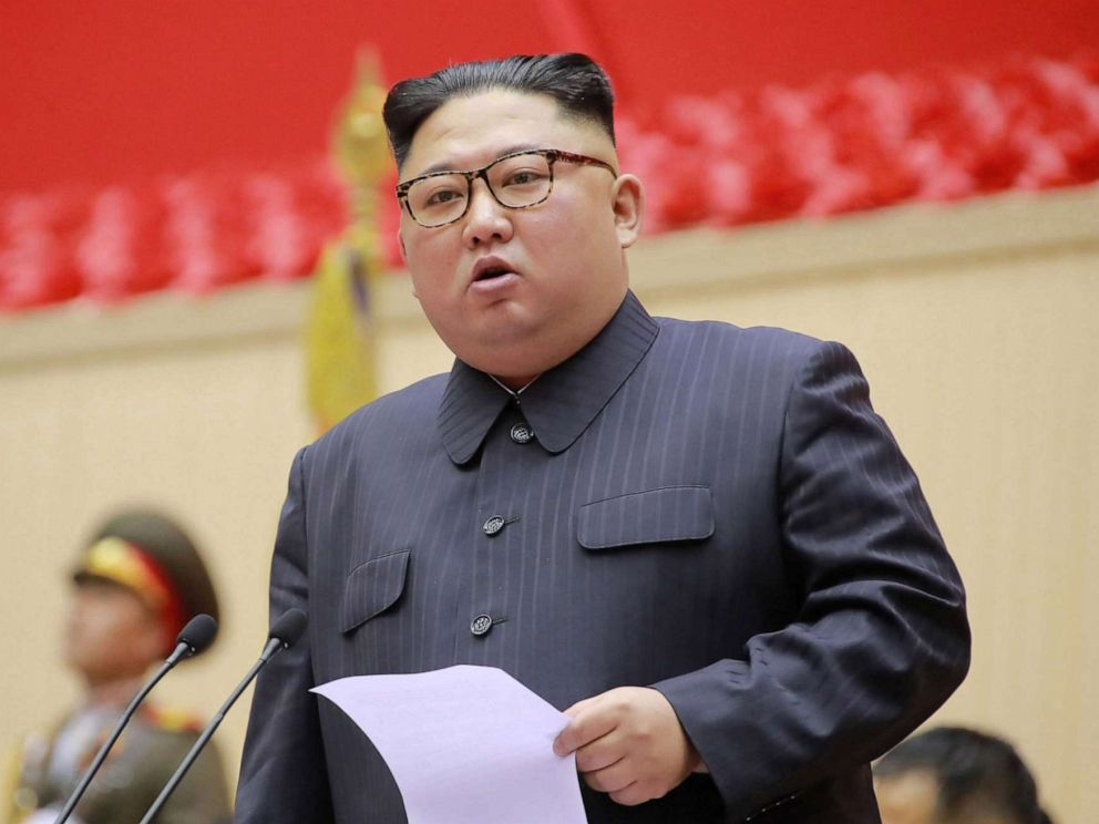 PHOTO: North Korean leader Kim Jong Un holds a military meeting in Pyongyang, North Korea, in this photo released, March 27, 2019.