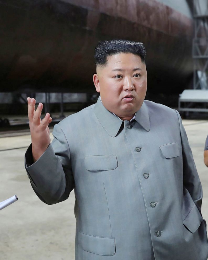 North Korean Leader Kim Jong Un Inspects New Submarine That Could Potentially Threaten Us Abc News