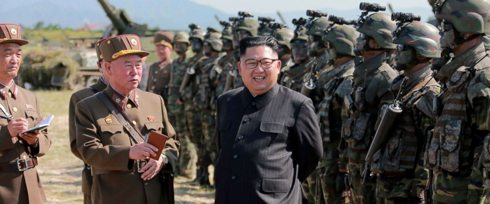 PHOTO: North Korean leader Kim Jong Un guides a target-striking contest of the special operation forces of the Korean Peoples Army.