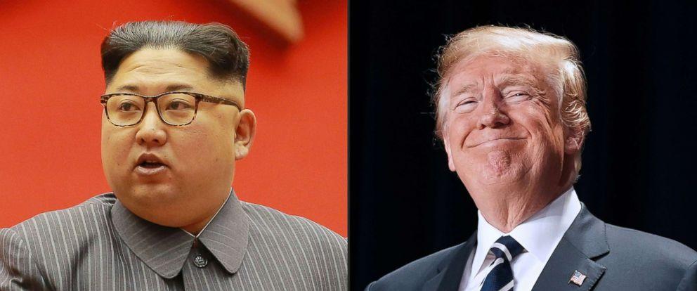 Presiden Amerika Serikat Donald Trump dan Korea Utara Kim Jong Un