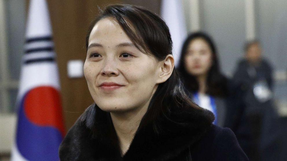 Kim Yo Jong, sister of North Korean leader Kim Jong Un, arrives at the opening ceremony of the PyeongChang 2018 Winter Olympic Games at PyeongChang Olympic Stadium, Feb. 9, 2018 in Pyeongchang-gun, South Korea.
