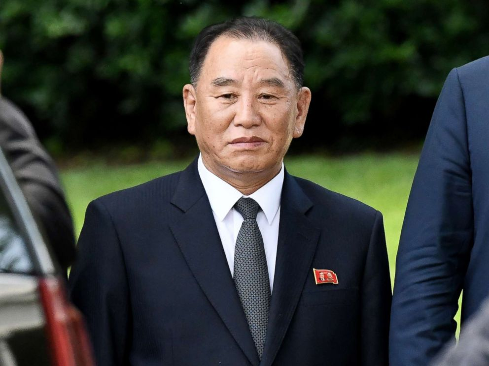 PHOTO: Kim Yong Chol, former North Korean military intelligence chief and one of leader Kim Jong Uns closest aides, departs the White House in Washington, D.C., June 1, 2018.