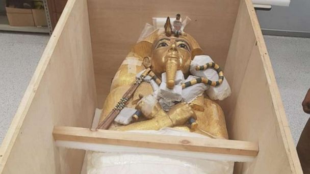 King Tut's golden coffin to be restored for the first time