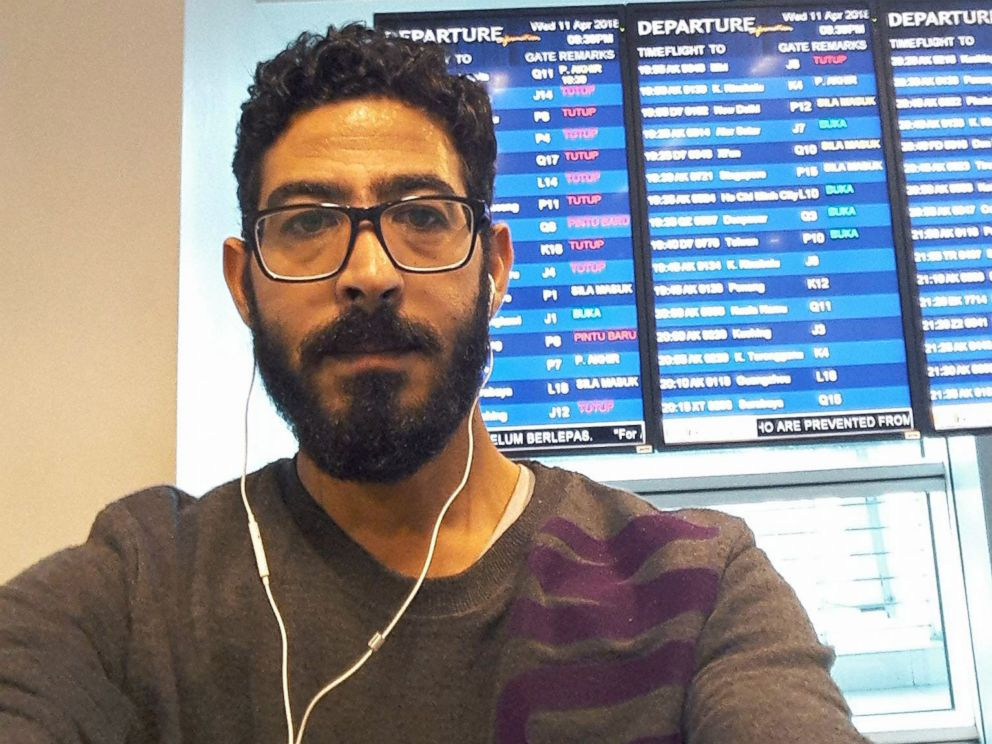 PHOTO: Syrian refugee Hassan Al Kontar has spent over a month in Kuala Lumpur International Airport, in Malaysia.