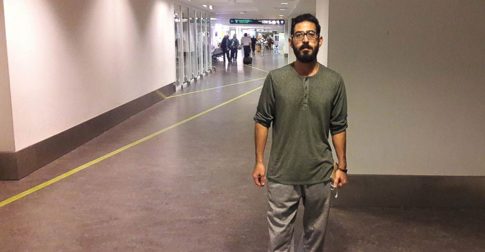 PHOTO: Syrian refugee Hassan Al Kontar has spent over a month in Kuala Lumpur International Airport in Malaysia.