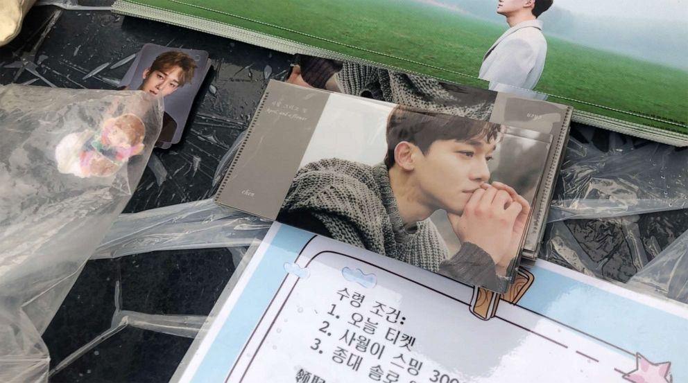 PHOTO: Passionate EXO fans hand out slogans and pictures of the idol boyband they prepared themselves, in front of the concert venue in Seoul, South Korea.