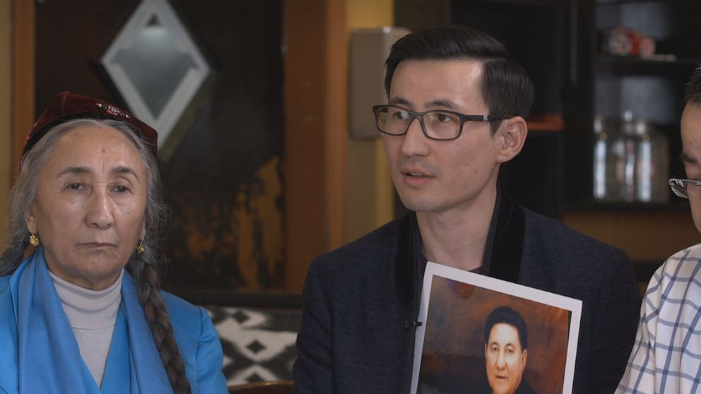 "PHOTO: ""He sent me a message from WeChat,"" Kuzzat Altay told ABC News, recalling the last conversation he had with his father. ""He said, 'son, they are taking me.'"""
