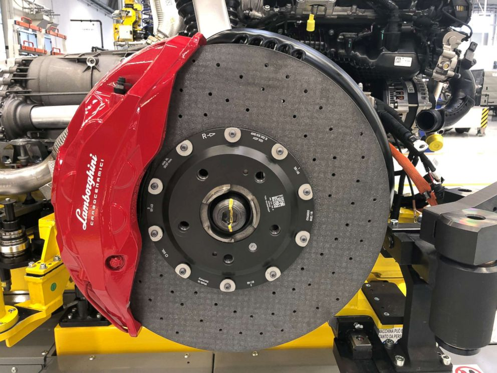 PHOTO: The $200,000 Urus has the largest carbon fiber brakes in the entire industry.