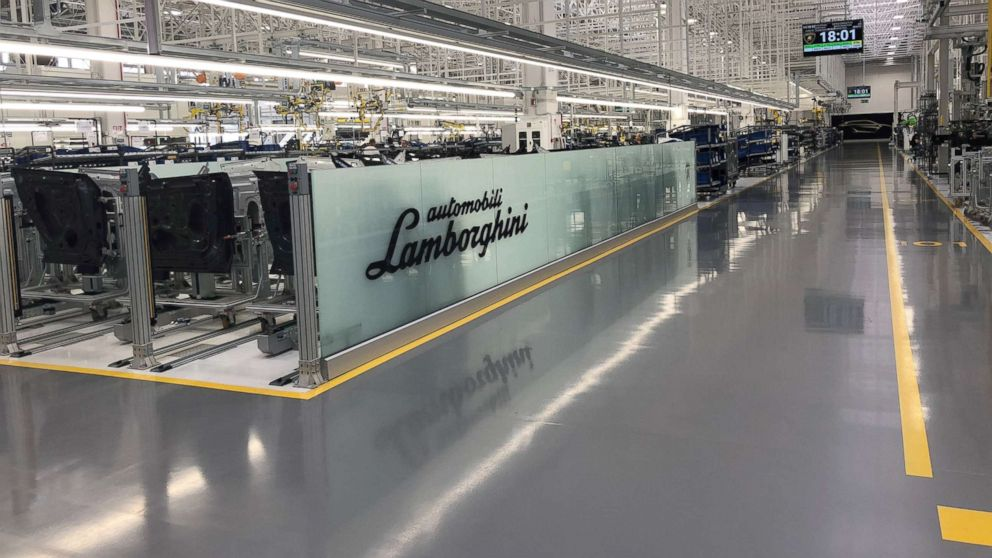 Lamborghini built a second factory last summer for production of the Urus, its new SUV.