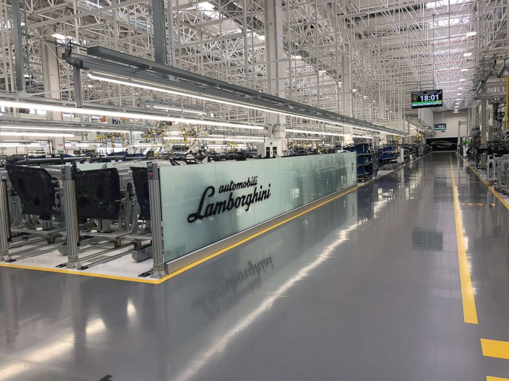 PHOTO: Lamborghini built a second factory last summer for production of the Urus, its new SUV.