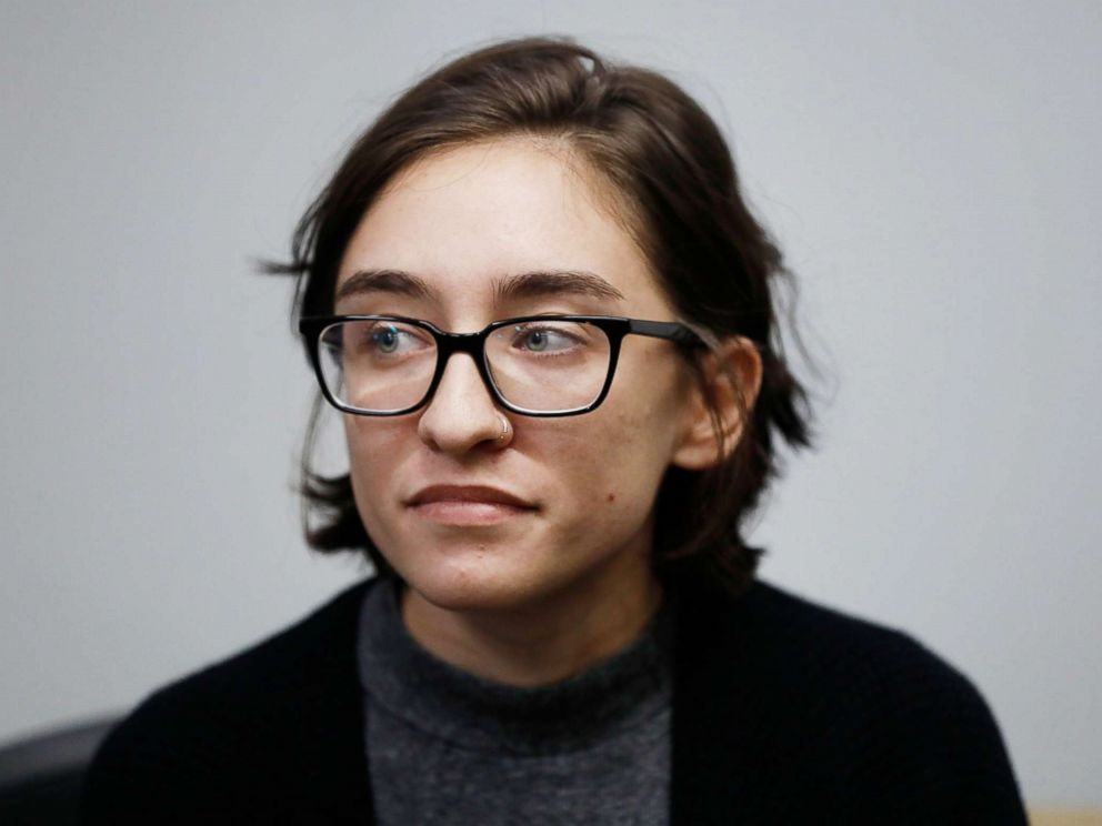 PHOTO: US citizen student, 22-year-old Lara Alqasem, attends a hearing at the Tel Aviv District Court in Israel, Oct. 11, 2018.