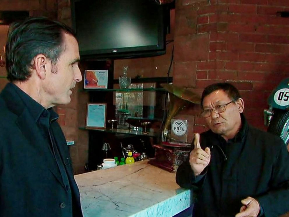 PHOTO: Lee Young-guk, an ex-bodyguard for North Korea's former dictator Kim Jong Il, is seen here with ABC News Bob Woodruff.