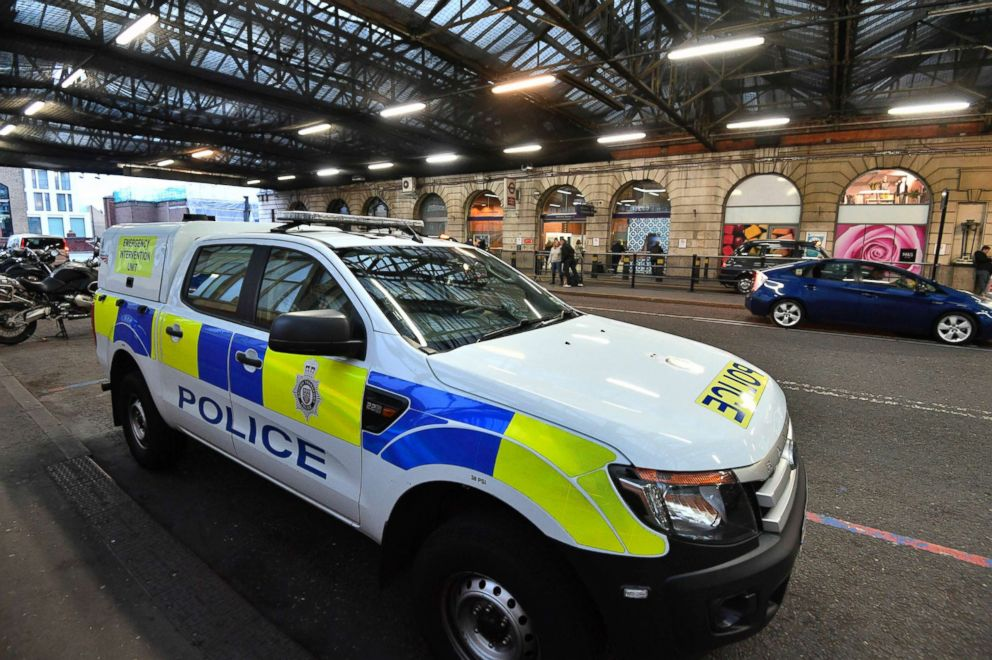 PHOTO: A British Transport Police vehicle is seen at Waterloo Railway Station, after three small improvised explosive devices were found at buildings at Heathrow Airport, London City Airport and Waterloo in London, March 5, 2019.