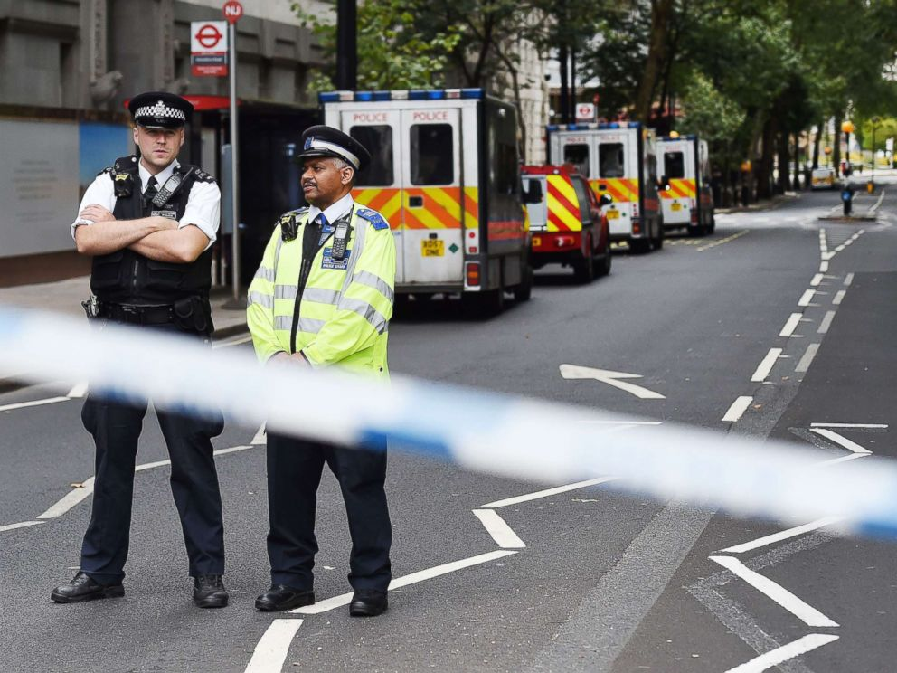 PHOTO: Police at the scene of an incident outside parliament in London, Aug. 14, 2018.