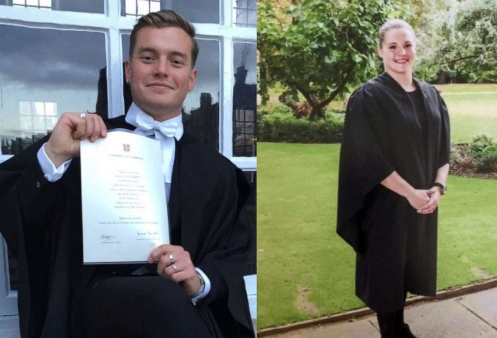 PHOTO: Jack Merritt, left, and Saskia Jones, right, are seen in this undated combination image provided by Londons Metropolitan Police Service. Merritt and Jones were both killed in a terror attack near the London Bridge on Nov. 29, 2019.