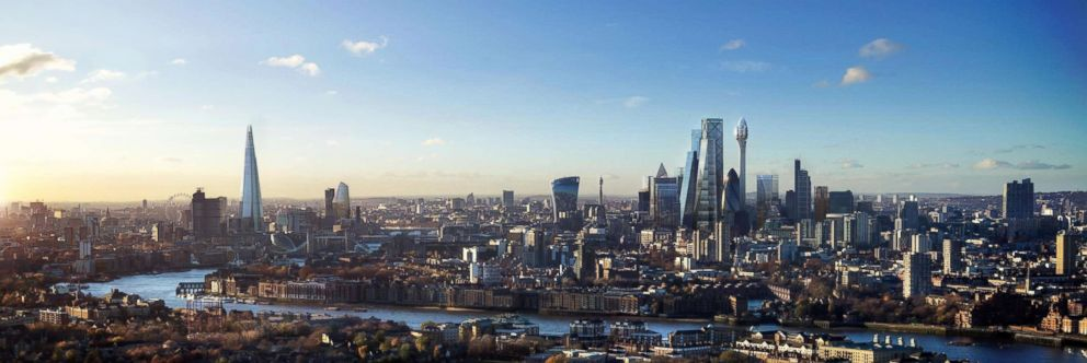 PHOTO: DBOX rendering of the London skyline featuring the new skyscraper, The Tulip.