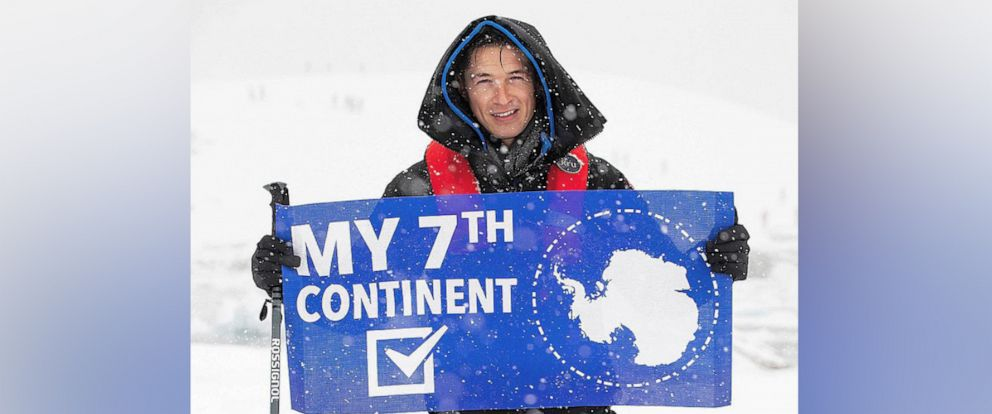 "PHOTO: ABC News James Longman is seen here during his trip to Antarctica for ""Nightline."""