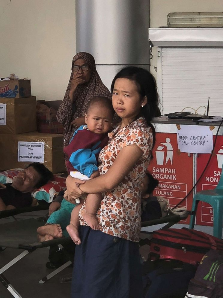 PHOTO: A devastating earthquake and tsunami in Indonesia left thousands homeless after it hit on Friday, Sept. 28, 2018.