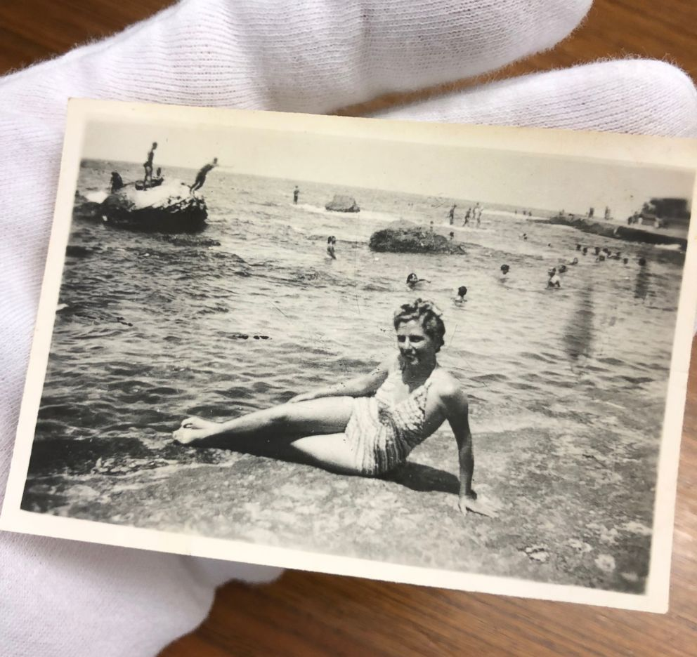 PHOTO: James Longmans grandmother Gabriella Sawaya on the beach in Alexandria, Egypt, 1940.