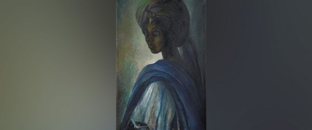 "PHOTO: ""Tutu,"" a portrait of the Ife royal princess Adetutu Ademiluyi painted by Nigerian artist Ben Enwonwu in 1974."