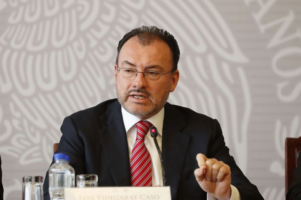 PHOTO: Mexican Secretary of Foreign Affairs Luis Videgaray attends a press conference over the U.S. policy of separating immigrant families at the border, in Mexico City, Mexico, June 19, 2018.