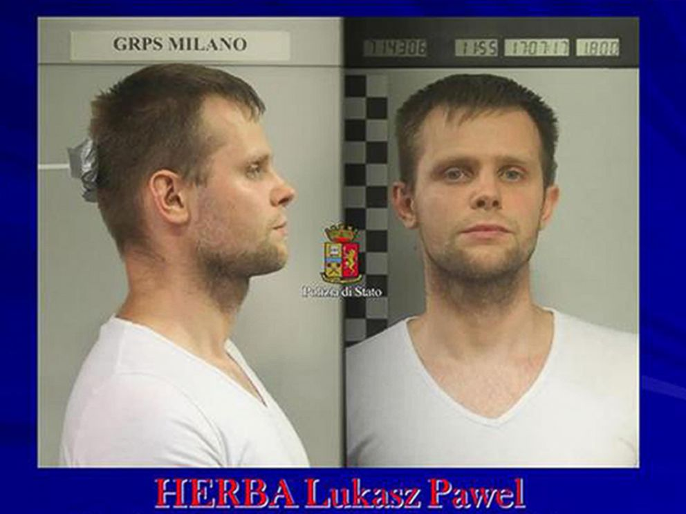 PHOTO: This photo released by police shows a man identified as Lukasz Pawel Herba, a Polish citizen with British residency, who has been arrested in the alleged kidnapping of a young British model, police said, Aug. 5, 2017.