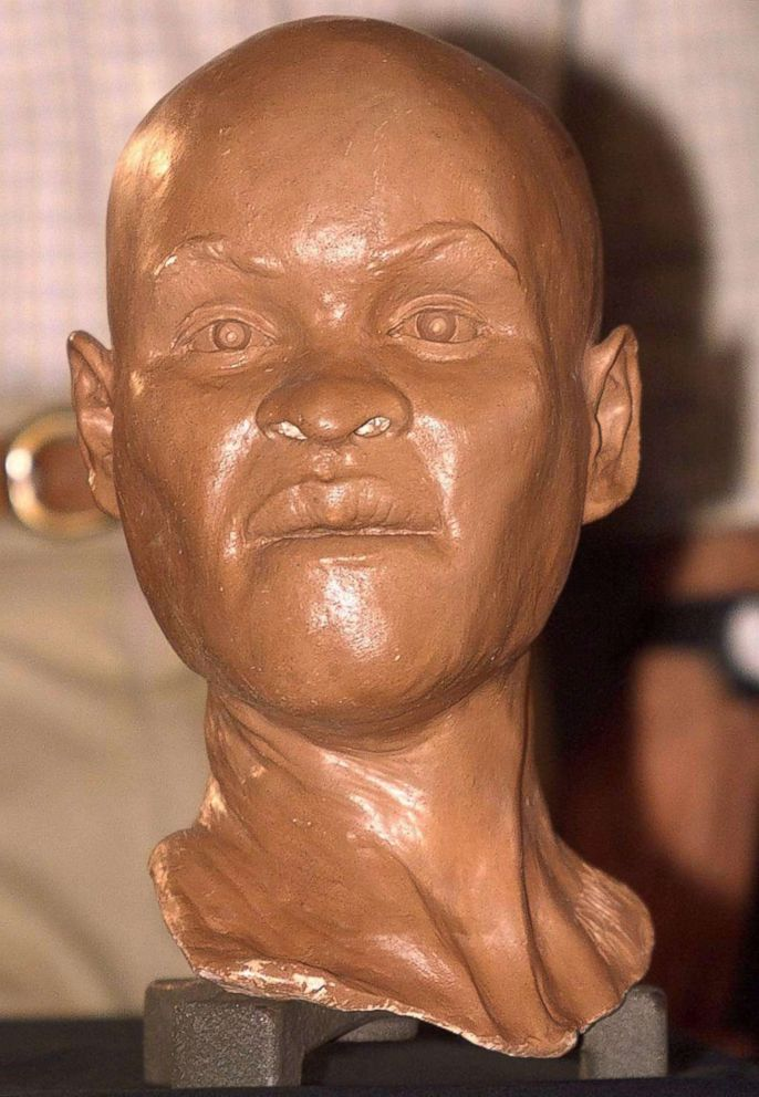 PHOTO: This file photo taken on Sept. 20, 1999 of a reconstruction of the head of Luzia, the first Brazilian woman, during its presentation at the National Museum of History in Rio de Janeiro.