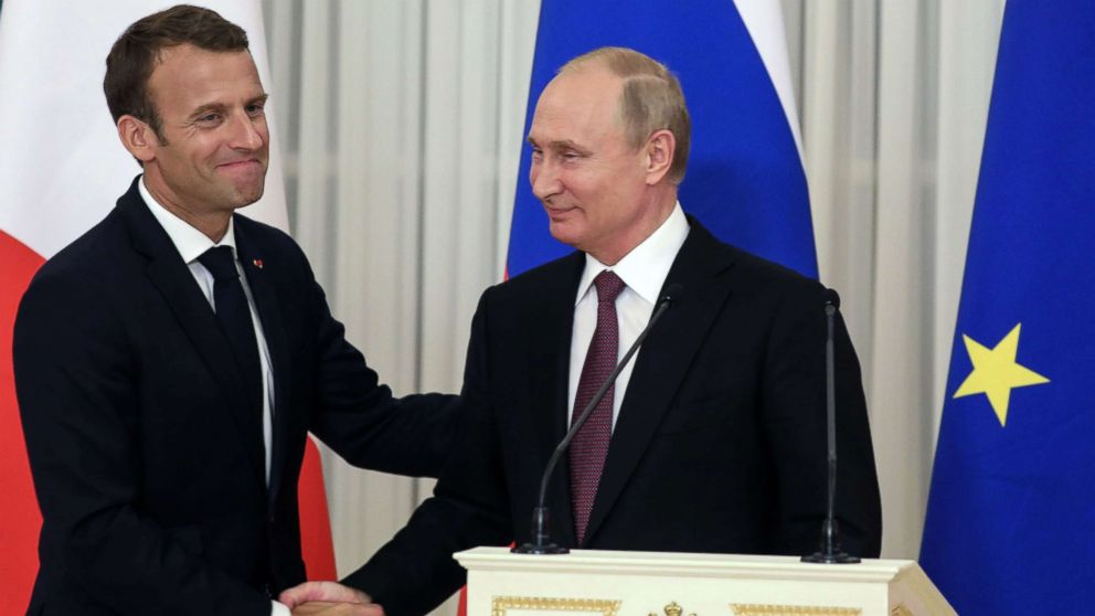 Macron Tries To Woo Putin During State Visit Abc News