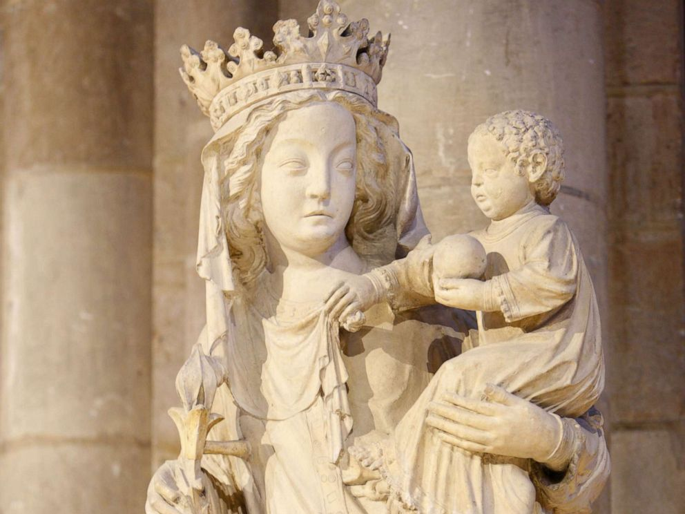 PHOTO: The 14th century Notre Dame de Paris, or Our Lady of Paris, statue is pictured in the Notre Dame Cathedral in Paris, in an undated file photo.