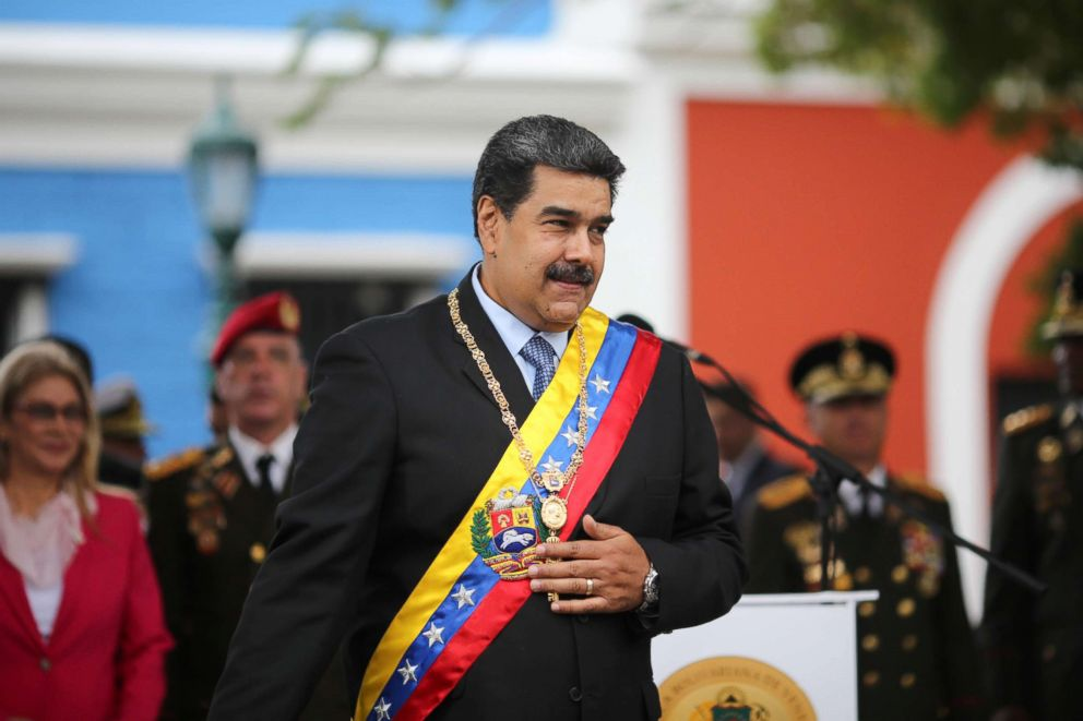 PHOTO: Venezuelas President Nicolas Maduro attends a ceremony to commemorate the Congress of Angostura in Ciudad Bolivar, Venezuela, Feb. 15, 2019.