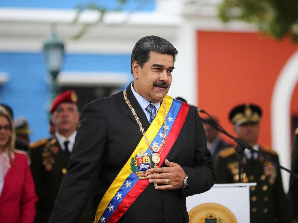 PHOTO: Venezuelas President Nicolas Maduro attends a ceremony to commemorate the Congress of Angostura in Ciudad Bolivar, Venezuela, Feb. 15, 2019.
