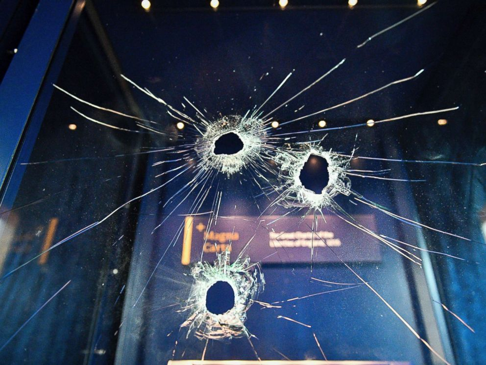 PHOTO: Hammer holes in the glass case that housed the Magna Carta, at Salisbury Cathedral in Salisbury, England, Oct. 26, 2018.