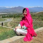 Pakistani activist and Nobel Peace Prize laureate Malala Yousafzai poses for a photograph during her hometown visit, March 31, 2018.