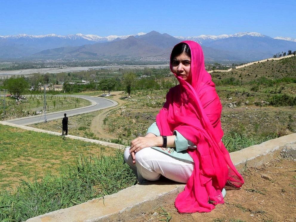 PHOTO: Pakistani activist and Nobel Peace Prize laureate Malala Yousafzai poses for a photograph during her hometown visit, March 31, 2018.