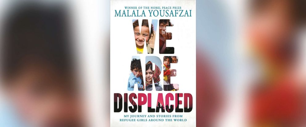 """PHOTO: Book cover for Malala Yousafzais """"We Are Displaced"""""""
