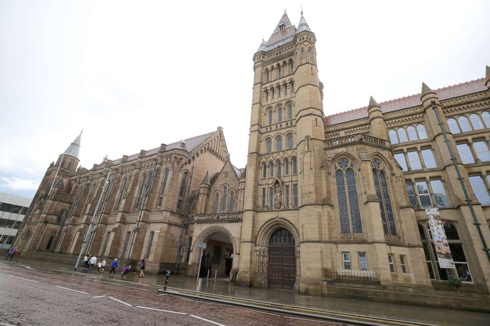 In this file photo shows a general view of the University of Manchester in Manchester, U.K., Sept. 9, 2017.