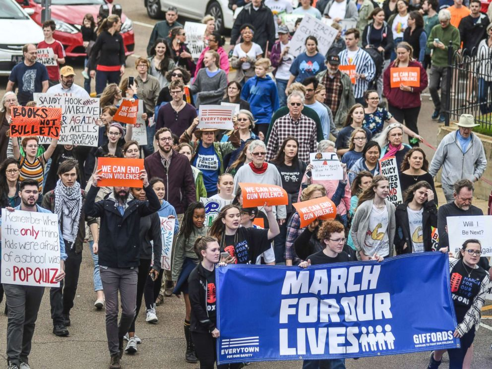 Hundreds of thousands march for gun control across the US