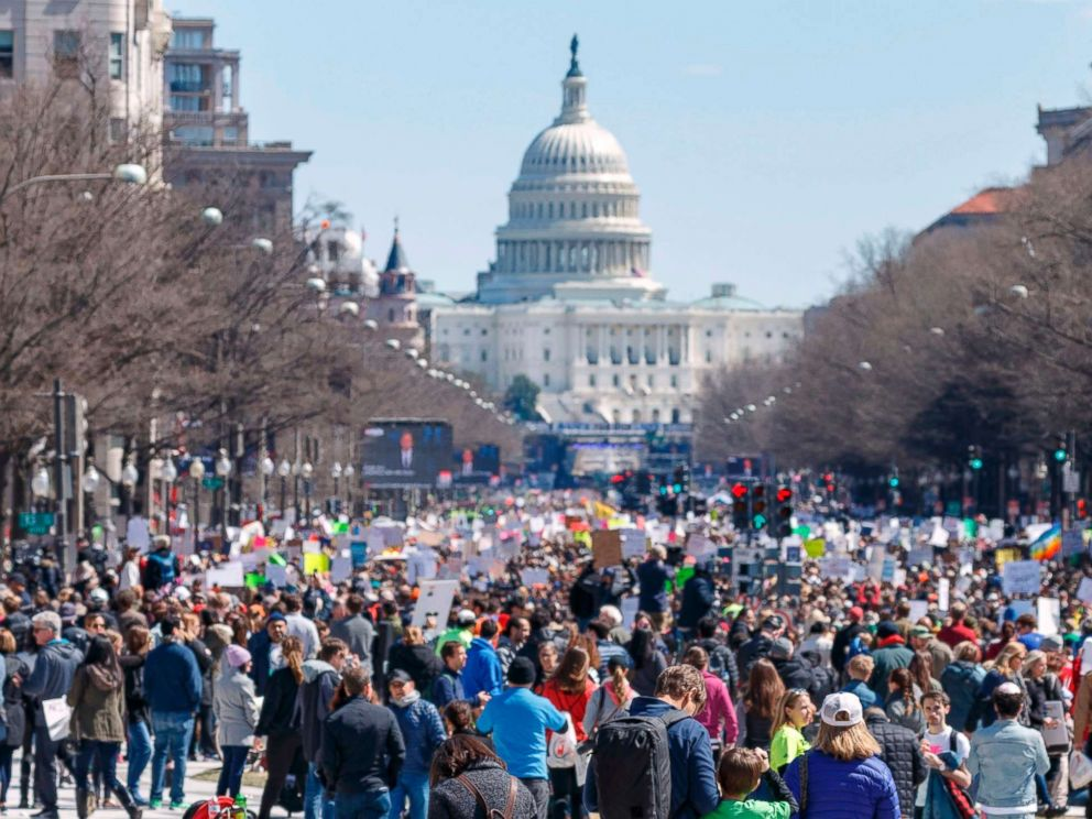 Heartbroken by gun violence, thousands rally across the nation and demand change