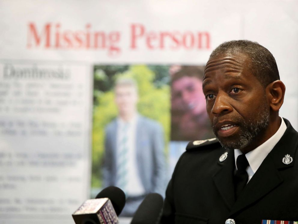 PHOTO: James Howard, acting Assistant Police Commissioner of Bermuda Police Services, during a press conference regarding missing American college student Mark Dombroski, March 19, 2018.